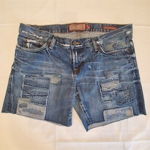 Lucky Legend Riley Boyfriend Jean Shorts Patched